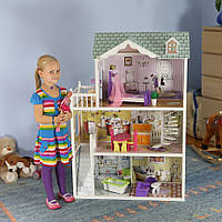 Мега большой игровой кукольный домик для барби 4108 Beverly 124см!