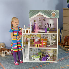 Мега большой игровой кукольный домик для барби Beverly 124см!
