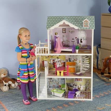 Мега большой игровой кукольный домик для барби 4108 Beverly 124см!, фото 2