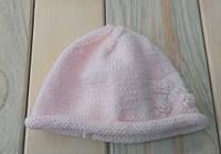Детская вязаная шапка на девочку