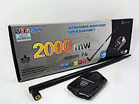Беспроводной адаптер WiFiSKY 2000mW +10dBi антенна. HighPower USB Wireless Adaptor b/g 54Mbps (Адаптер WiFi на чипе Realtek RTL8187L c усилителем на
