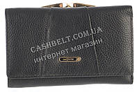 Небольшой прочный женский кожаный кошелек высокого качества  SALFEITE art. 506103L черный, фото 1