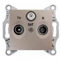 Механизм розетки TV/R/SAT проходной титан Schneider Electric Sedna