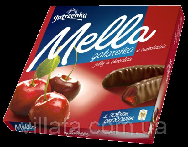 Галаретка в шоколаде вишневый сок «Меllа» 190г. Польша