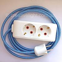 Удлинитель электрический с тканевым проводом
