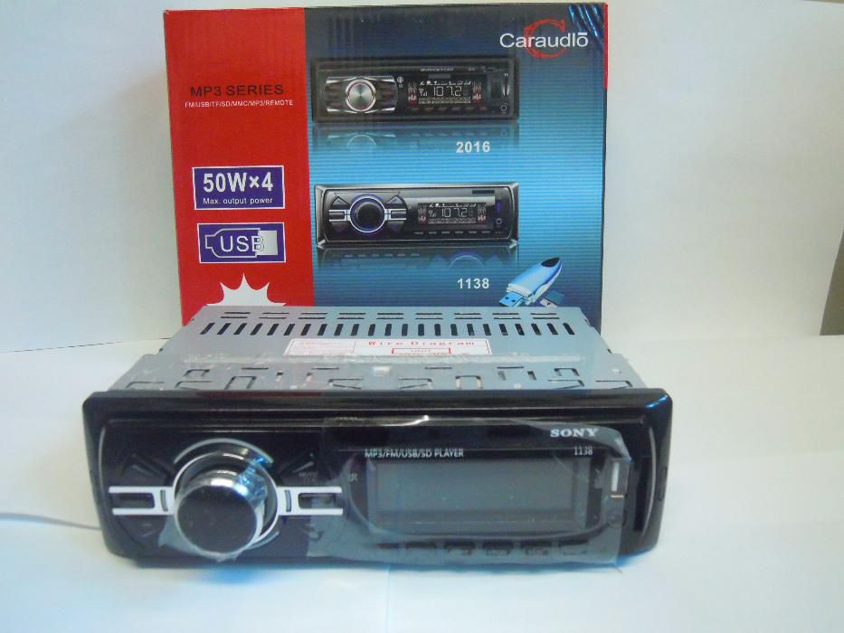 Автомагнитола типоразмер 1DIN Sony 1138 ISO универсальный магнитофон для автомобиля
