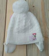 Детская шапка на младенцев с завязками