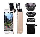Набір об'єктивів Primo Lens 4 в 1 для мобільних телефонів - Black, фото 2