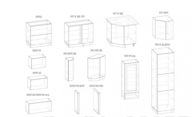 модули кухни Гамма