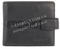 Вместительный стильный кожаный мужское портмоне из мягкой кожи Salvatore Ferragamoart. SF81-1077A черный
