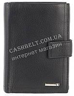 Элитное стильное кожаное мужское портмоне бумажник из мягкой кожи Loui Vearner art. LOU83-936A черный