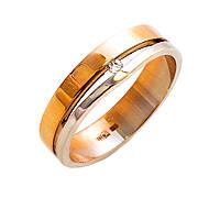 Золотые обручальные кольца с фианитом