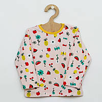 Хлопковая пижама с ярким рисунком для девочки 92