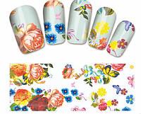 """Наклейка на ногти, наклейка для ногтей, ногтевой дизайн """"цветы"""" 14 шт набор"""