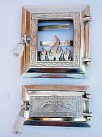 Дверцы для печи и барбекю Калина Серебристая, дверки печные со стеклом