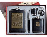 """Подарочный набор """"Moongrass"""" 5в1 Фляги, Ручка, Рюмка, Лейка DJH-1029 SO"""