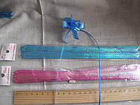 """Бантик подарочный, сборный """"Лентяйка"""", с кружевным краем, ширина 1.2 см. длина 24 см"""