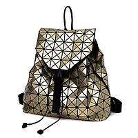 Эффектный  и стильный женский рюкзак , золотой