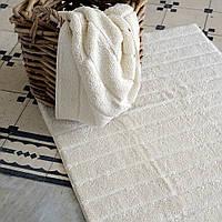 Хлопковый коврик для ванной с антибактериальной защитой HANIM  IVORI 60x95