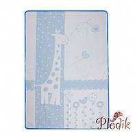 Детское хлопковое одеяло-плед 110х140 Vladi Чунга-Чанга голубой