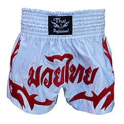 Шорты для Тайского бокса (Muay Thai) Thai Professional S4 White/Red