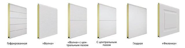 панели секционных ворот