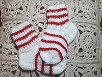 Носки детские, вязанные.