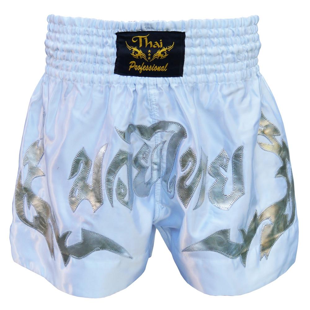 Шорты для Тайского бокса (Muay Thai) Thai Professional S5 White/Silver