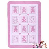 Детское хлопковое одеяло-плед 110х140 Vladi Барні розовый