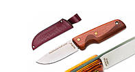 Нож нескладной 002 WJ красное дерево (чехол-кожа) MHR /05-41