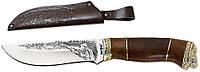 """Нож охотничий """"GW""""-КАБАН-1 (с рисунком) (нескладной нож для охоты) MHR /05-62"""