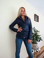 Синий  стеганный пиджак на кнопках. Арт-8947/76