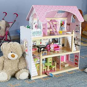 Большой игровой кукольный домик 4110 Fairy!Подарок 4 куклы!