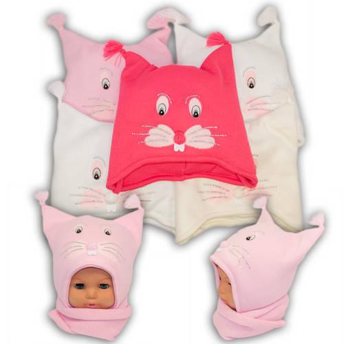 Детский комплект - шапка и шарф для девочки, Ambra (Польша), утеплитель Iso Soft, P14