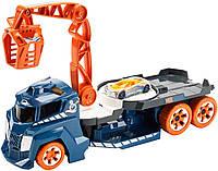 Автовоз с краном Хот Вилс Hot Wheels свет и звук Lights and Sounds Vehicle Spinnin' Sound Crane, фото 1