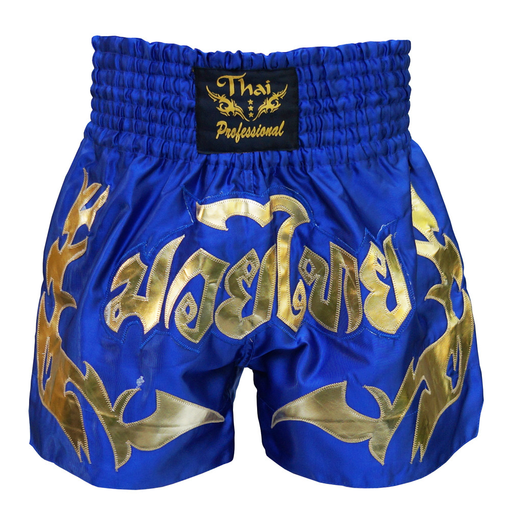 Шорты для Тайского бокса (Muay Thai) Thai Professional S16 Blue/Gold