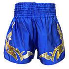 Шорты для Тайского бокса (Muay Thai) Thai Professional S16 Blue/Gold, фото 2