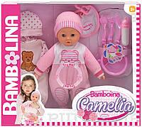 Говорящая кукла Bambolina Камелия 40см с аксессуарами (украинский язык)