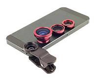 Набор объективов Primo Lens 4 в 1 для мобильных телефонов - Red