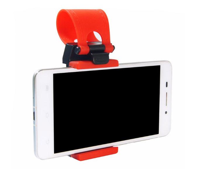 Универсальный держатель для телефона на руль автомобиля - Red