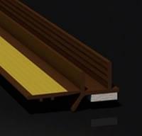 Профиль оконный примыкания (примыкающий) коричневый с манжетой 6мм без сетки