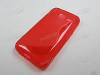 Полимерный TPU чехол Samsung J105H Galaxy J1 Mini (красный), фото 1