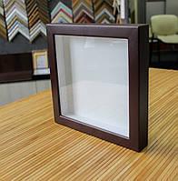 Рамка для 3D 15х15 см коричневая (шоколад)