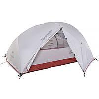 Палатка ультралёгкая 2-х местная NatureHike Star-River 2 силикон светло-серый/красный NH15T012-T