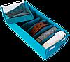 Коробочка для носочков/колгот/ремней с крышкой ORGANIZE (лазурь), фото 3