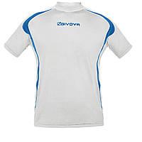 Кофта для бега Givova Running Shirt Белый/Синий, M
