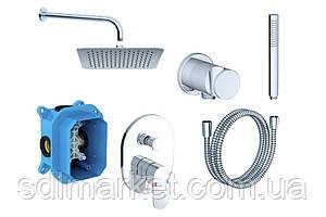Душевая система  RAVAK CHROME CR 090.00 скрытого монтажа с верхним душем