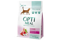 Сухой корм для кошек С ягненком Optimeal (Оптимил) с чувствительного пищеварения 0,3 кг