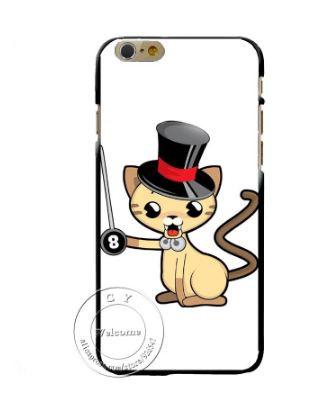 Эксклюзивный чехол накладка для Iphone 4 / 4S с картинкой Кот в шляпе