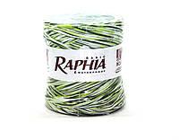 Натуральная завязка рафия 200 м (mix Белый/Темно-зеленый/Салат)